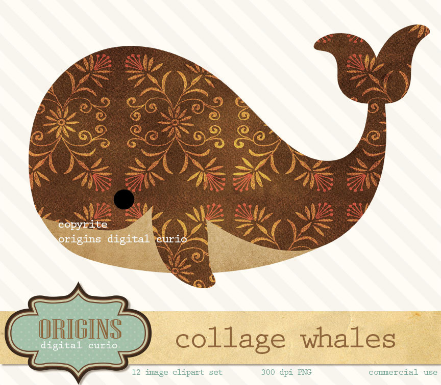Brown clipart whale Is a Vintage  file