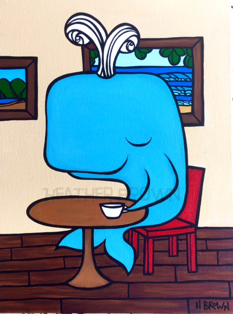 Brown clipart whale Artist Heather H Brown Show