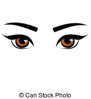 Brown Eyes clipart Eye cat of green female