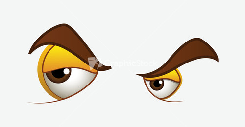 Brown Eyes clipart angry eye Eyes Angry Stock Eyes Expressions