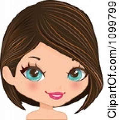 Brown Eyes clipart long hair Clipground blue and with hair