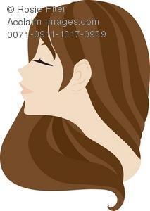 Brown Hair clipart Illustration Brown A Brown Long