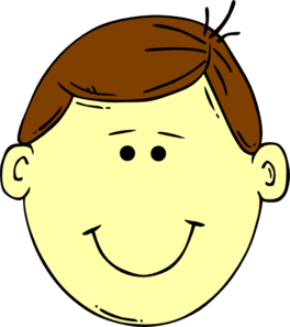 Hair clipart brown haired boy Vector Clker Art Brown Clip