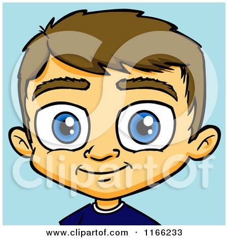 Brown Hair clipart boy head Clipground with clipart Children Prints