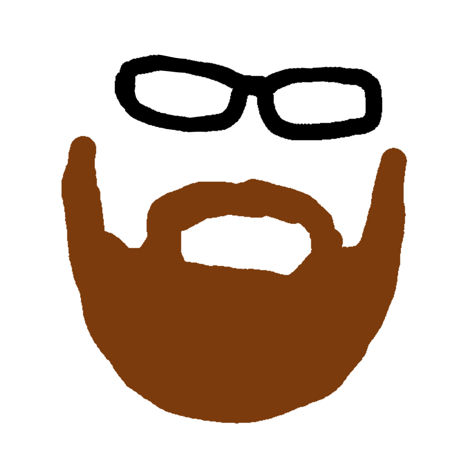 Beard clipart brown beard #8