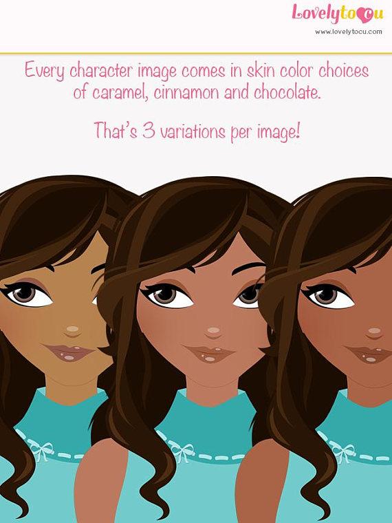 Brown Hair clipart mom face Clipart L204) blog girlboss girl