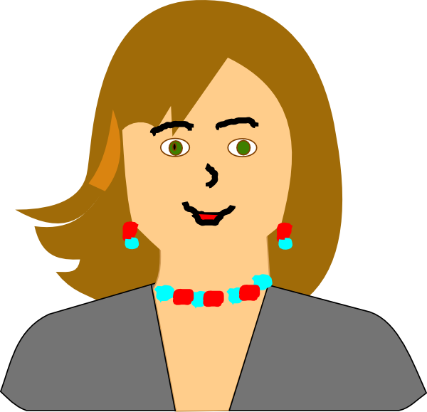 Brunette clipart woman manager Art royalty as: Clker clip