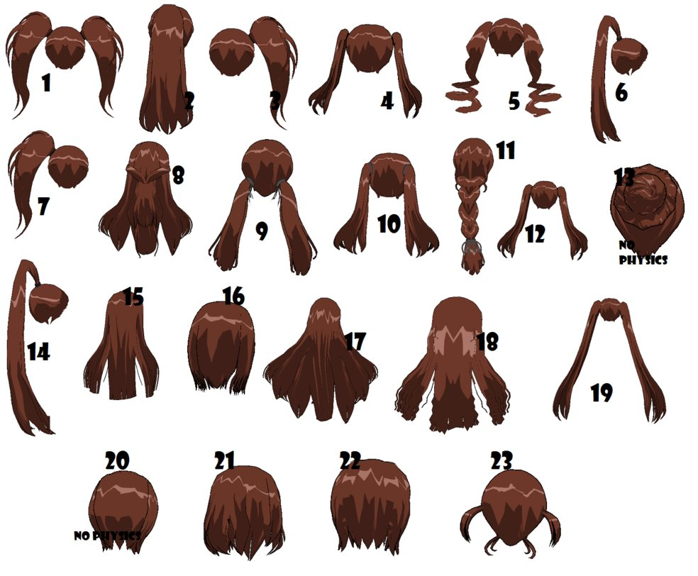 Brown Hair clipart big smile By Default 3DCG Back by