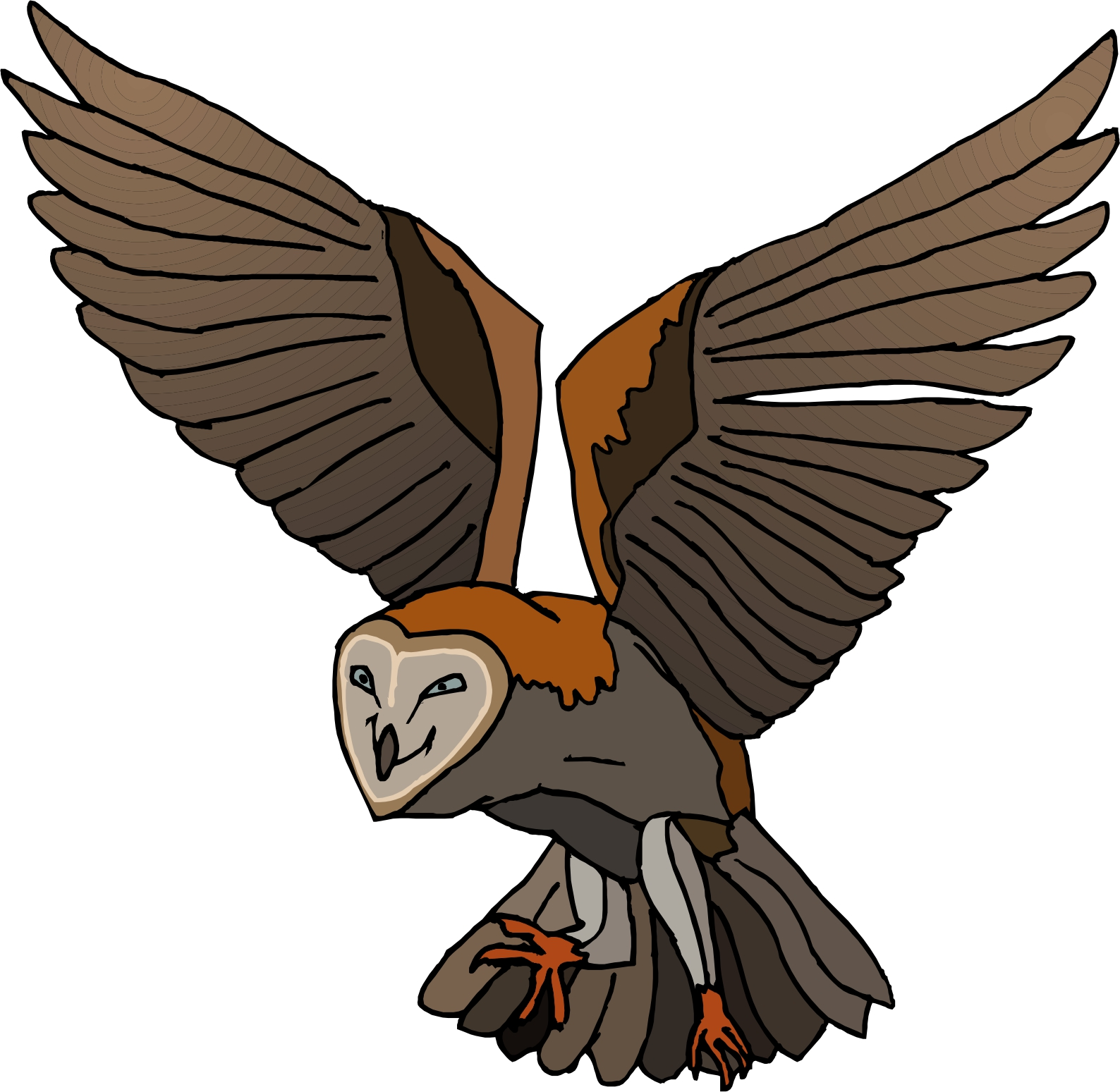 Brown Hawk Owl clipart Free Clipart Panda Images Flying