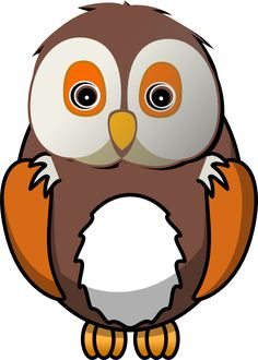 Brown Hawk Owl clipart sketch Owl Silhouettes Clipart Panda Cute