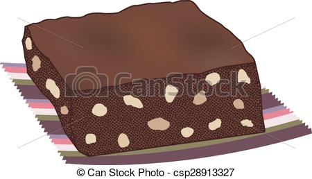 Brownie clipart Cake with brownie nuts of
