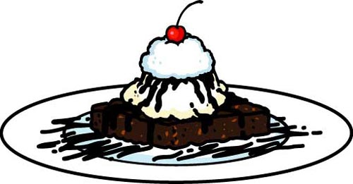 Brownie clipart Resolution Brownie Clipart  500x261