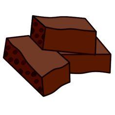 Brownie clipart cartoon CLIPART BANANA CLIPART BROWNIES Pinterest