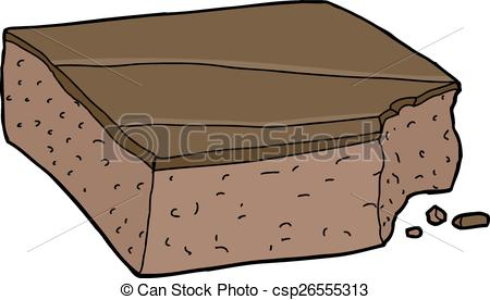 Brownie clipart cartoon  with slice Vector Clip