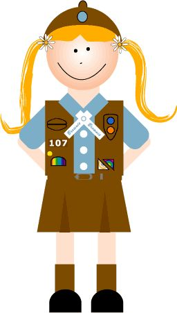 Brownie clipart cartoon Brownie scout clip scout Clip