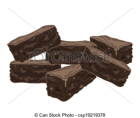 Brownie clipart chocolate brownie Brownies of  Illustration Vector