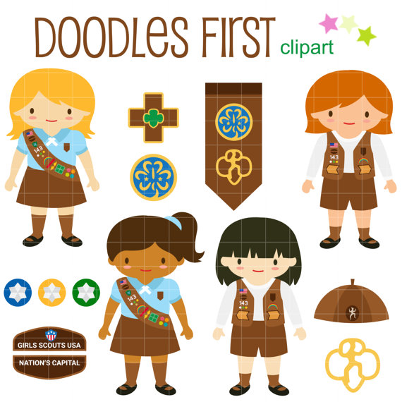Brownie clipart cupcake  Girl Scout Making Art