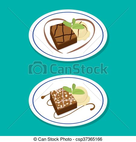 Brownie clipart food Icecream with Fudge on with