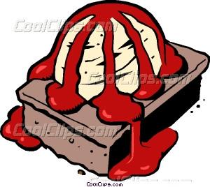 Brownie clipart food Brownie Brownie fudge art sauce