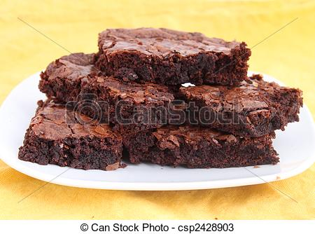 Brownie clipart plate On of Plate Pile Brownies