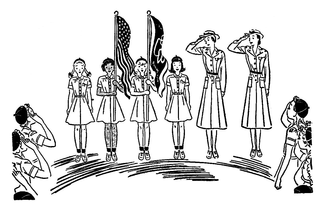 Ceremony clipart flag ceremony Flag In Art clip Vintage