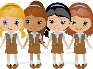 Brownie clipart scout Daisy scout scout clipart Girl