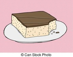 Brownie clipart square cake Of Cake Clip on Isolated