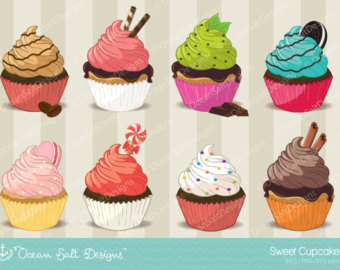 Brownie clipart valentine cupcake Cupcakes Clipart Scrapbook Digital Clipart