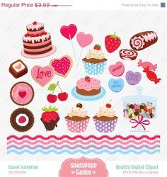 Brownie clipart valentine cupcake Sweet Cupcakes printables Scrapbook