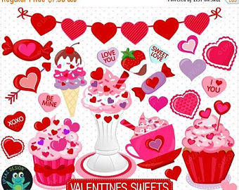 Brownie clipart valentine cupcake Day Valentines Cupcake Candy Clipart