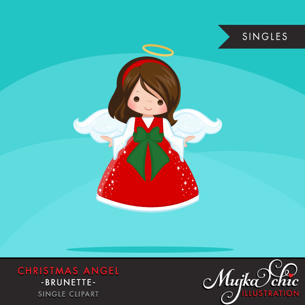 Brunette clipart angel Clipart Christmas Brunette  Angel