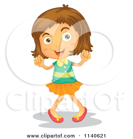 Brunette clipart animated Brunette clipart dancing art girl