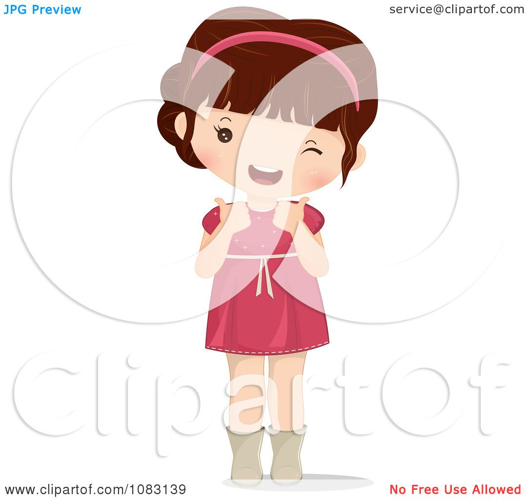 Brunette clipart angel Girl Cute up clipart Holding