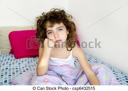 Brunette clipart messy hair Messy bed morning brunette