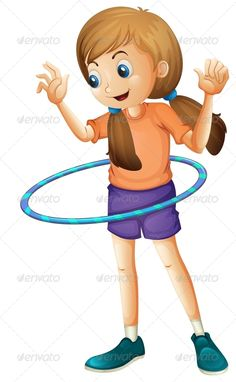 Brunette clipart pigtail A Preschool with Clipart Playing