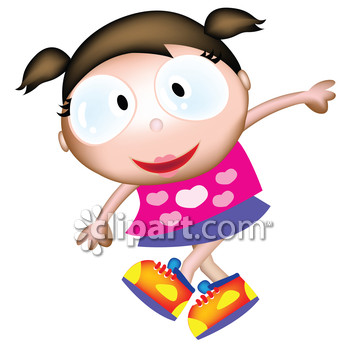 Brunette clipart pigtail Pigtail female children kid youngster