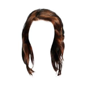 Brunette clipart wig Polyvore wig by Block❤:brunette ❤Massie