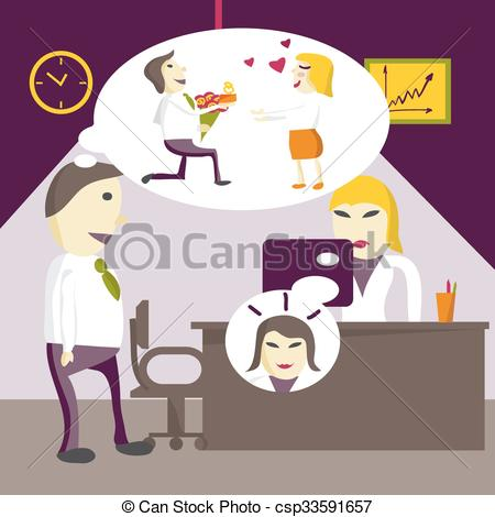Brunette clipart woman manager Marry Vector brunette that that