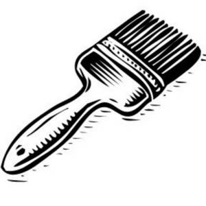 Brush clipart #13166 White Clipartion Clip Brush