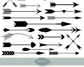 Brush clipart dog Native Vector Aztec Brushes Arrow