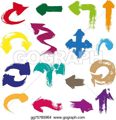 Brush clipart arrow Drawing a  shapes Arrows