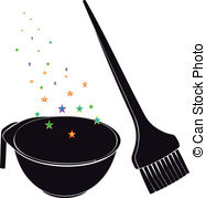 Brush clipart coloring Art 394 hair Royalty clip