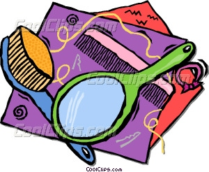 Brush clipart comb Brush mirror hair Vector hair
