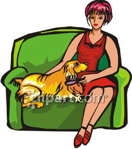 Brush clipart dog Brushing on Dog While with
