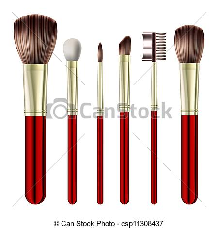 Brush clipart makeup tool Brushes background makeup on Vectors