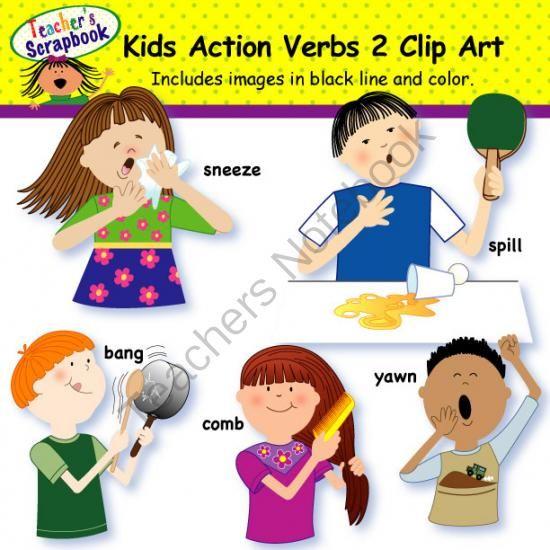 Brush clipart verb Art images 14 Best Kids