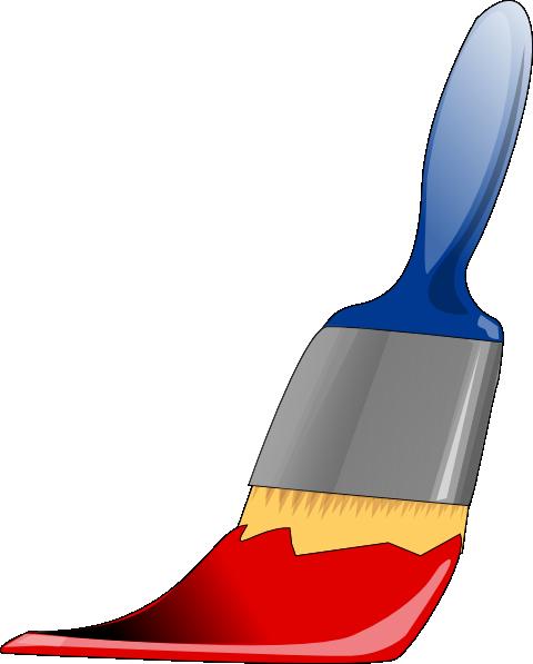 Brush clipart wall painting Vector at Brush online at