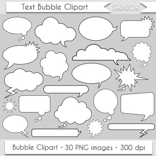 Clouds clipart text On  Text Comic Clipart