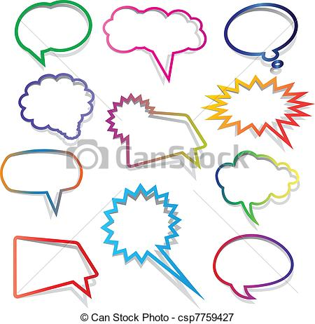 Bubble clipart colourful Csp7759427  of Collection Speech
