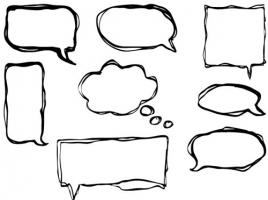 Drawn bubble Clipartix bubble clipart Speech speech
